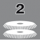 Две дисковые щетки