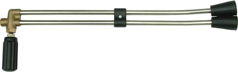 """Двойная трубка 500 мм для пистолета мойки, M22 - 1/8""""F, 250 Bar, Lavor"""