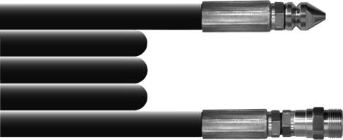 Насадка на мойку для прочистки канализации, 20 м, M22-M, Lavor